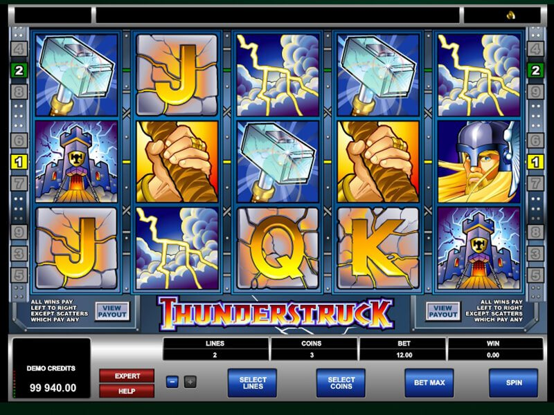 Thunderstruck Slot screenshot 2