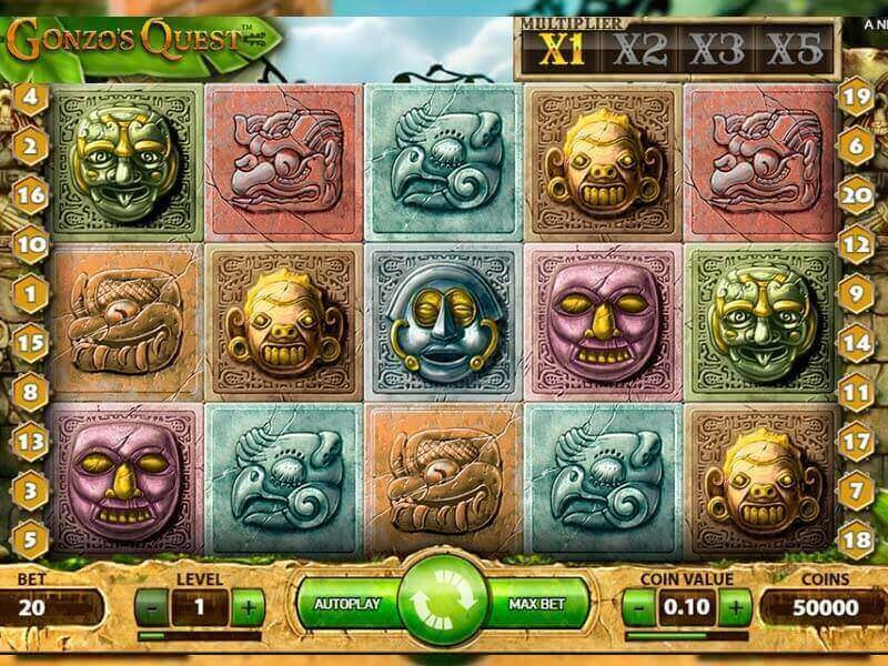 Looking for treasures and incredible winnings at slot Gonzo's Quest